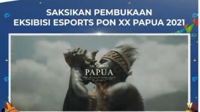 Jadwal Pembukaan Ekshibisi Esports PON XX Papua 2021, Live YouTube PB ESI Pukul 17.00 WIB