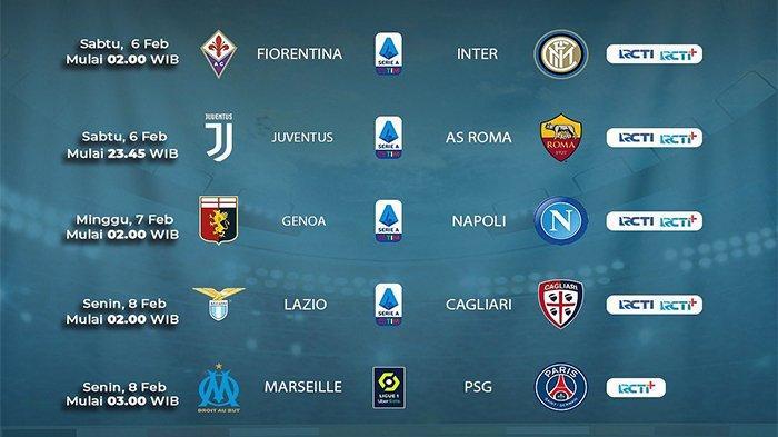 Jadwal Siaran Langsung Bola Malam Ini Mu Vs Everton Juventus Vs As Roma Live Mola Tv Hingga Rcti Tribunnews Com Mobile