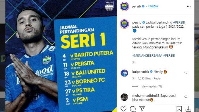 Jadwal Persib di BRI Liga 1 2021 Seri Pertama - Tajuk 3 Laga Reuni & Lawan Sang Jawara, Bali United
