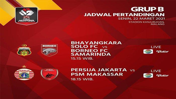LINK Live Streaming Gratis, Bhayangkara Solo FC vs Borneo FC Piala Menpora 2021 di Indosiar