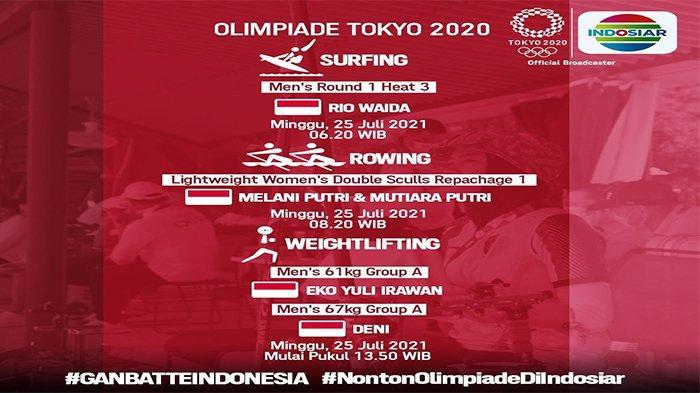 Jadwal Atlet Indonesia di Olimpiade 2021 Hari Ini: Bulutangkis, Dayung hingga Angkat Besi