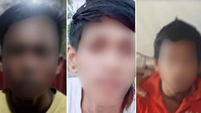 Jajaran Polres Gresik menangkap tiga bocah yang diduga membunuh Achmad Arinal Hakim dan jenazahnya dibuang di lubang bekas galian C dekat wisata Bukit Jamur, Desa Bungah, Kecamatan Bungah, Gresik, Rabu (4/11/2020).