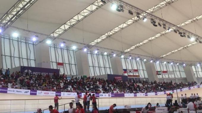Indonesia Berlaga di Team Sprint Para-Cycling, Jakarta International Velodrome Dipadati Suporter