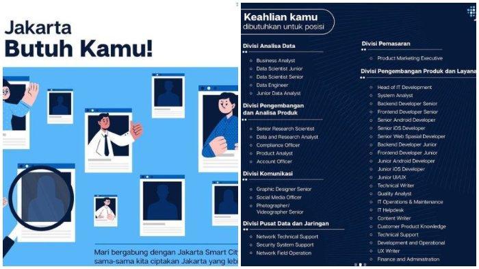 Rekruitmen Tenaga Pengelola Jakarta Smart City Ditutup 20 Januari 2021 Ini Syarat Cara Daftarnya Halaman All Tribunnews Com Mobile