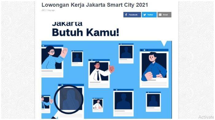 Jakarta Smart City Buka Lowongan Kerja 2021, Ini Daftar Posisi, Syarat, dan Cara Daftarnya