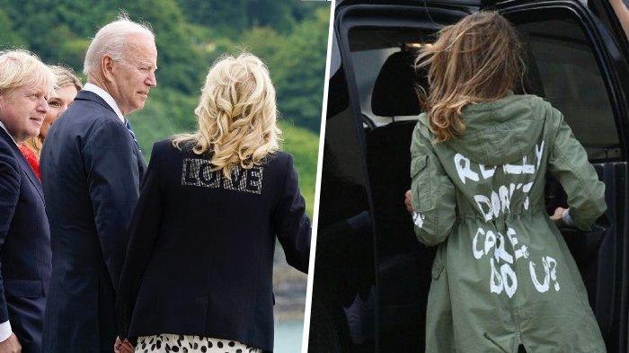 Pakai Jaket Bertuliskan 'LOVE', Jill Biden Dibanding-bandingkan dengan Melania Trump