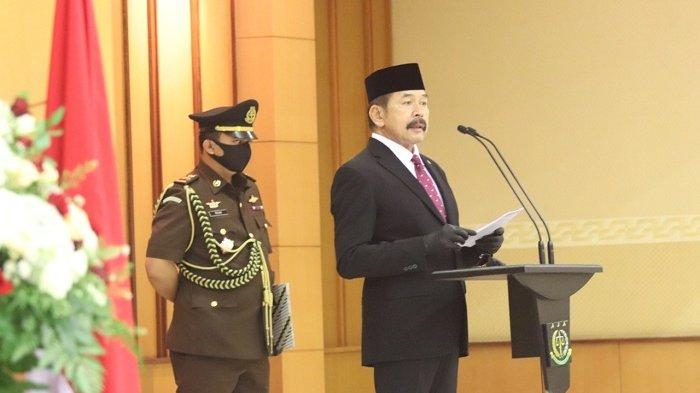 Jaksa Agung RI ST Burhanuddin melantik empat pejabat baru di lingkungan Kejaksaan Agung, Rabu (12/8/2020).