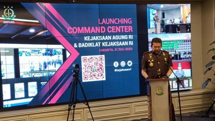 Jaksa Agung ST Burhanuddin saat meresmikan Command Centre Kejaksaan Agung dan Badan Pendidikan dan Latihan Kejaksaan RI di gedung utama Kejaksaan Agung, Jakarta Selatan, Selasa (21/7/2020).