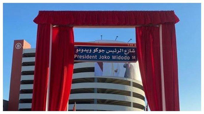Nama Jalan Al Ma'arid Street di Abu Dhabi Berganti Menjadi President Joko Widodo Street