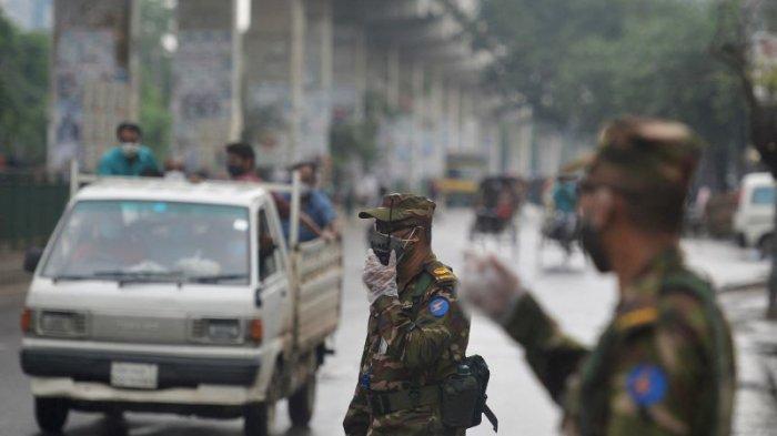 Bangladesh Lockdown, Tentara dan Polisi Suruh Pulang Orang yang Keluar Rumah Kecuali Darurat