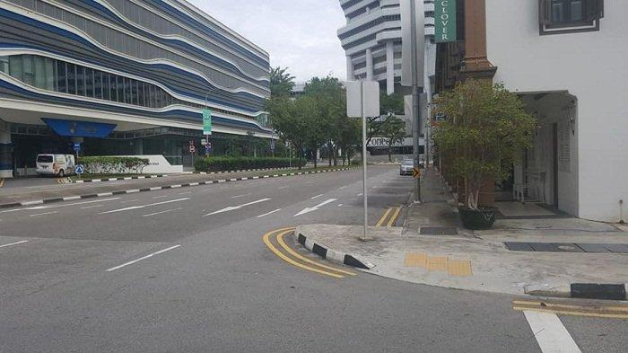 Suasana Kota-kota di Singapura yang Terapkan Semi Lockdown untuk Cegah Covid-19, Jalanan Sepi
