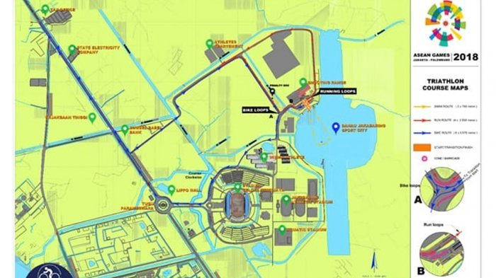 Lomba Triathlon, Mulai Besok Jalur Jakabaring Ditutup Sampai Hari Minggu