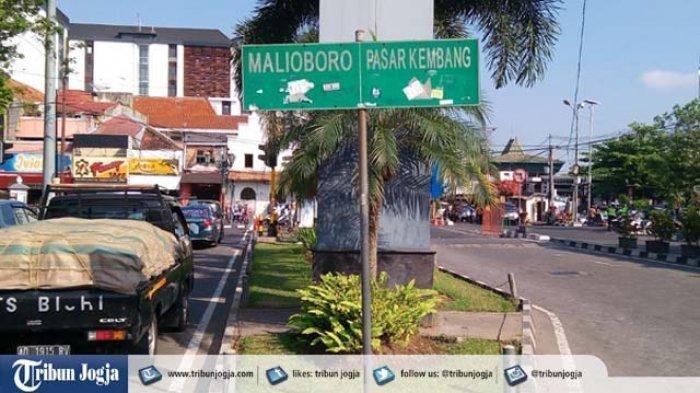 Jalur jalan menuju kawasan Malioboro, Yogyakarta.
