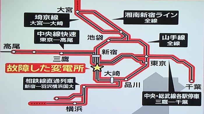Gangguan Transmisi Listrik, Perjalanan Kereta Api di Jalur Yamanote Jepang Terhenti 4 Jam