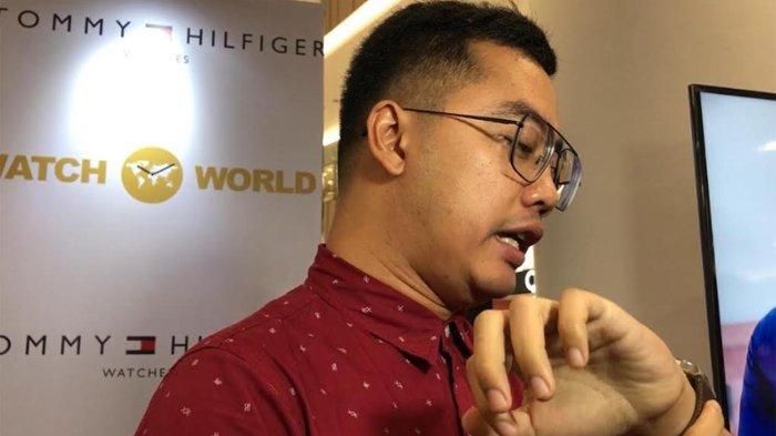 Dennis Adhiswara dalam acara Launching New Collection Fall Winter Tommy Hilfiger Watches by Watch World di Senayan City, Jakarta Pusat, Kamis (23/1/2019).