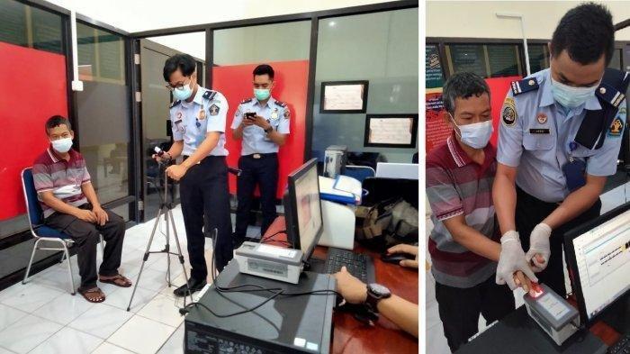 Seorang pria asal Thailand Jamrid Sungpen (47) dipindahkan ke Rumah Detensi Imigrasi / Rudenim Makassar, Kamis (18/3/2021). Ia tak memiliki dokumen keimigrasian dan bakal dideportasi.