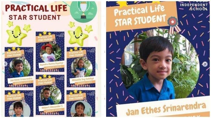 Jan Ethes dapat penghargaan Star Student dalam hal practical life
