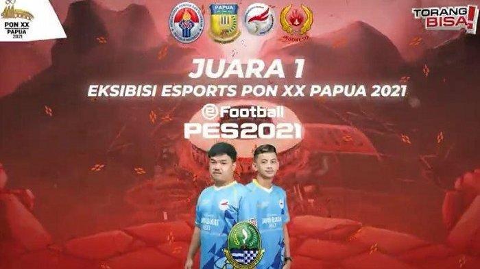 Hasil e-Football PES 2021 PON XX Papua: Jawa Barat Raih Medali Emas, Menang Tipis 2-1 atas Kalsel