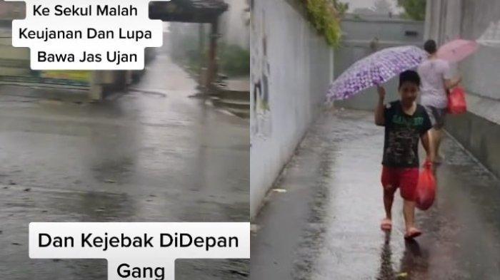 Terjebak Hujan, Remaja Ini Kaget saat Dibawakan Jas Hujan oleh Temannya: Baiknya Keterlaluan