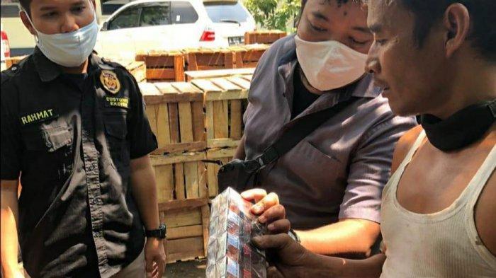 Rokok Ilegal yang Disamarkan Dalam Muatan Buah-Buahan Berhasil Diamankan Bea Cukai
