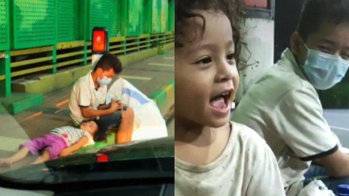 VIRAL Video Kakak Adik Pencari Barang Bekas Kelelahan di Pinggir Jembatan, Ini Kisah di Baliknya