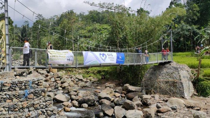 Jembatan Cibalagung yang Sempat Terputus Kini Telah Selesai Dibangun Kembali
