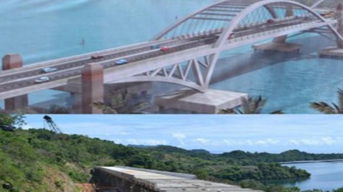 Kontruksi Jembatan Holtekamp di Kota Jayapura 39,34 Persen