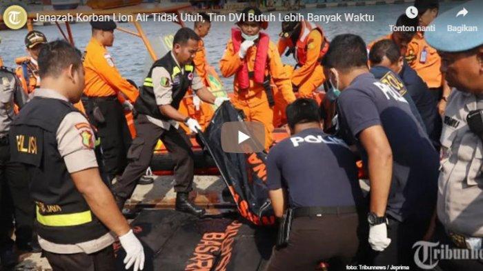Kamis Malam, 1 Kantong Jenazah Korban Pesawat Lion Air Kembali Diterima RS Polri