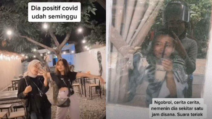 VIRAL Momen Wanita Jenguk Sahabat yang Positif Covid-19, Senang meski Hanya Lihat Lewat Kaca Jendela