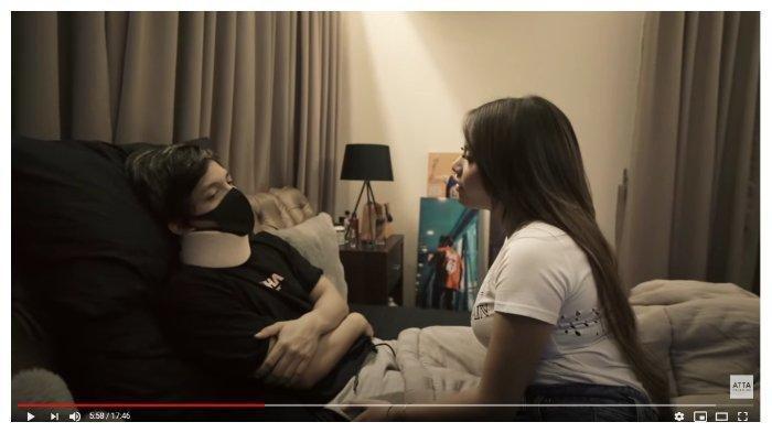 Jenguk Atta Halilintar yang Terbaring Lemas di Kasur, Aurel Hermansyah: Kasihan kayak Kakek-kakek