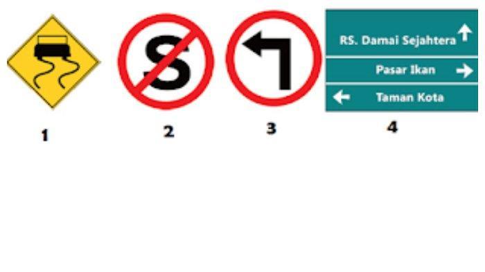 jenis-jenis rambu buku tematik kelas 3 tema 8 subtema 3