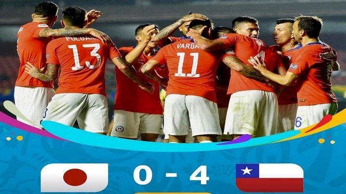 Hasil Akhir Jepang vs Chile di Copa America 2019 Pagi Ini, Negeri Sakura Dibantai