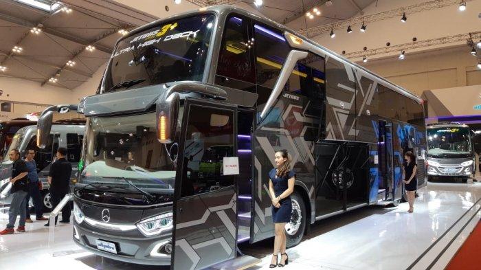 Pertama di Indonesia, Bus Ultra High Deck Dipamerkan di GIIAS 2018