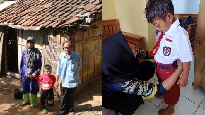 Kisah pilu bocah 7 tahun ke sekolah pakai baju lusuh dan sandal, kondisinya memprihatinkan.