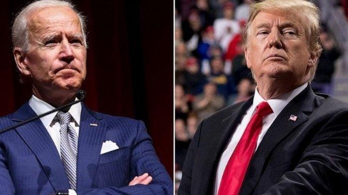 Joe Biden dan Donald Trump - Kampanye Joe Biden Kumpulkan Rp  716 Milyar dalam 48 Jam setelah Pilih Kamala Harris jadi Cawapres