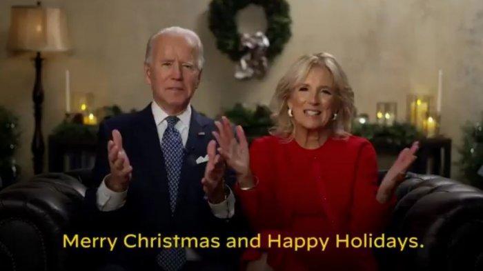 Joe Biden dan Jill Biden berikan pesan Natal