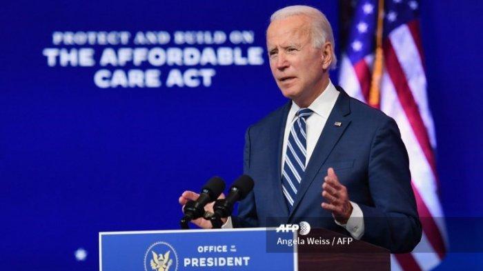 Presiden terpilih AS Joe Biden menyampaikan sambutan di The Queen di Wilmington, Delaware, pada 10 November 2020