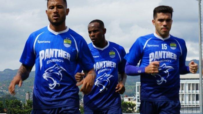 Joel Vinicius dan Wander Luiz mengikuti sesi latihan Persib Bandung di Stadion Sport Jabar Arcamanik, Selasa (14/1/2020) (Tribun Jabar/Syarif Pulloh Anwari)