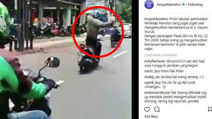 Setelah Videonya Viral, Beginilah Nasib Pria yang Naik Motor Sambil Berjoget di Jalanan Jakarta