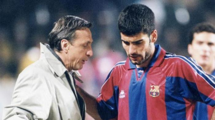 Johan Cruyff dan Pep Guardiola