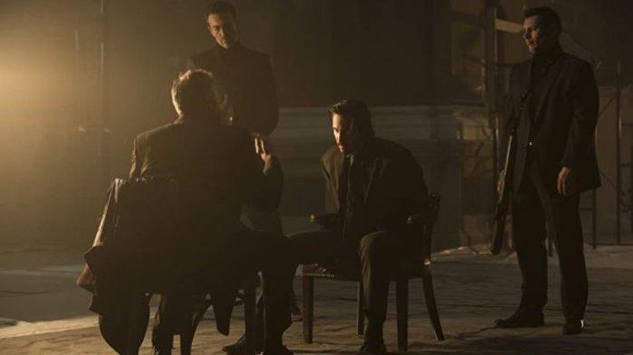 Adegan saat John Wick berhasil ditangkap oleh kelompok mafia Italia.