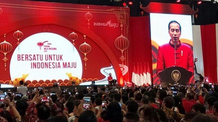 Ketika Jokowi Singgung Ahok yang Tidak Hadir Dalam Perayaan Imlek Nasional 2020 di ICE BSD