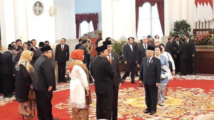 Presiden Joko Widodo (Jokowi) resmi melantik Rektor UIN Sunan Kalijaga Prof Yudian Wahyudi menjadi Kepala Badan Pembinaan Ideologi Pancasila (BPIP) di Istana Negara, Jakarta, Rabu (5/2/2020).