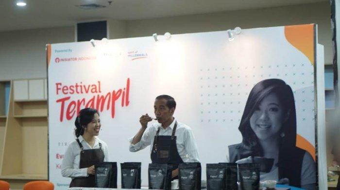Datangi Festival Terampil, Jokowi Belajar Cara Menikmati Kopi ala Barista