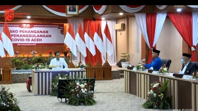 Presiden Minta Gubernur, Pangdam, dan Kapolda Aceh Cek Penerapan Protokol Kesehatan