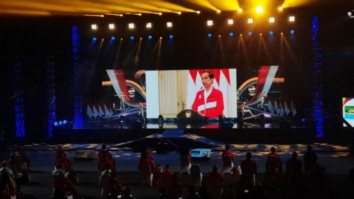 Joko Widodo Menghadiri Secara Virtual Acara Peringatan Haornas ke-37 di GOR POPKI