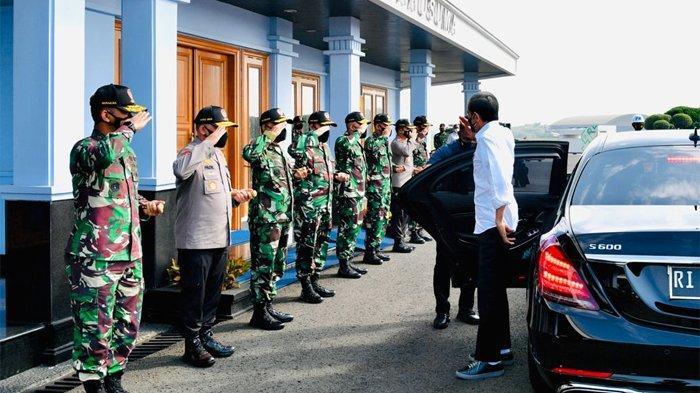 Presiden Joko Widodo melakukan kunjungan kerja ke Kabupaten Cilacap, Provinsi Jawa Tengah, Kamis (23/9/2021)