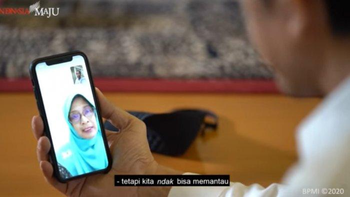 Ketika Jokowi Berbincang dengan Guru Asal Padang Tanya Aktivitas Belajar Siswa di Tengah Pandemi