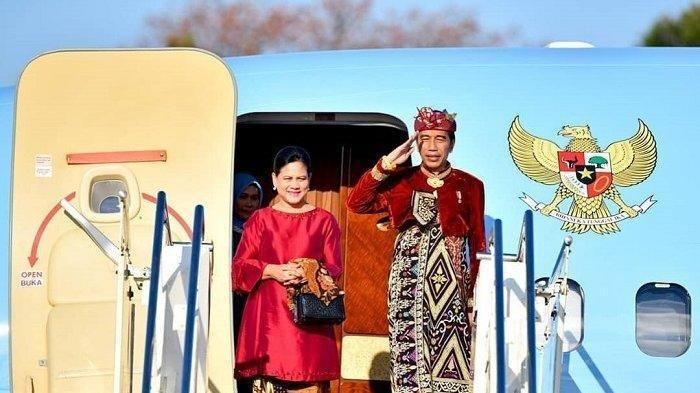Jokowi dan Iriana bertolak menuju Malaysia.