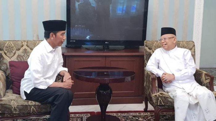 Saat Ma'ruf Amin Balas Pujian Jokowi